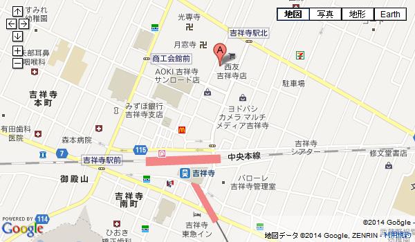 吉祥寺サンロード店の地図を見る