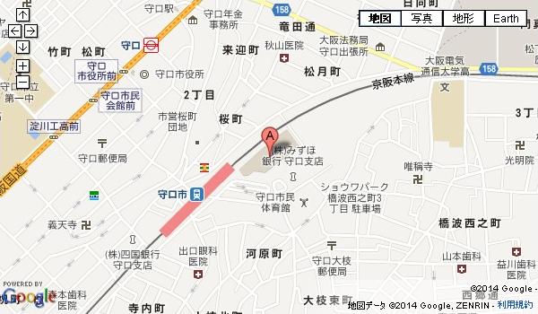 京阪守口店の地図を見る