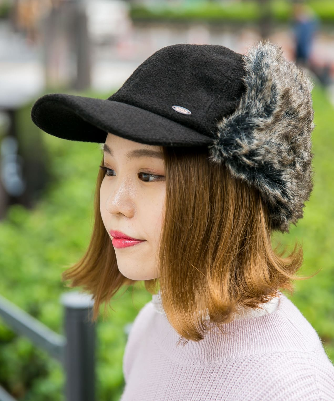 MIX KNIT EAR FLAP CAP【ミックスニットイヤーフラップキャップ】